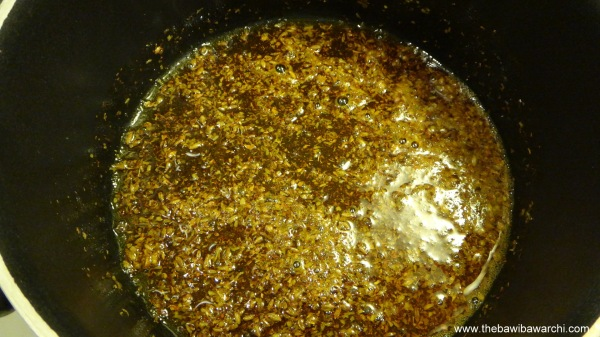 frying the masala
